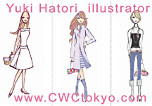 Yuk Hatori - click to this Tokyo Japan based fashion illustrator, Yuki Hatori - sample work